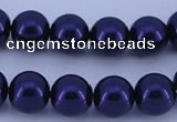 CGL274 10PCS 16 inches 8mm round dyed glass pearl beads wholesale