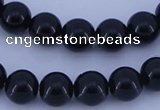 CGL283 10PCS 16 inches 6mm round dyed glass pearl beads wholesale