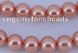 CGL293 10PCS 16 inches 6mm round dyed glass pearl beads wholesale