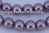 CGL383 10PCS 16 inches 6mm round dyed glass pearl beads wholesale