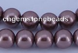 CGL401 2PCS 16 inches 25mm round dyed plastic pearl beads wholesale