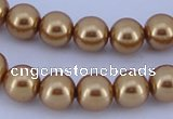 CGL66 5PCS 16 inches 12mm round dyed glass pearl beads wholesale