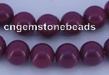 CGL882 5PCS 16 inches 12mm round heated glass pearl beads wholesale