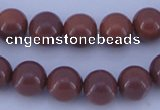 CGL885 10PCS 16 inches 6mm round heated glass pearl beads wholesale