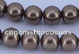 CGL92 10PCS 16 inches 4mm round dyed glass pearl beads wholesale