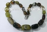 CGN101 20 inches 10*15mm - 20*30mm nuggets agate gemstone necklaces