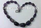 CGN120 22 inches 10*14mm - 20*30mm nuggets amethyst necklaces