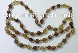 CGN651 22 inches chinese crystal & striped agate beaded necklaces