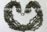 CGN729 19.5 inches stylish 6 rows labradorite chips necklaces