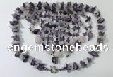 CGN827 20 inches stylish amethyst & rose quartz statement necklaces