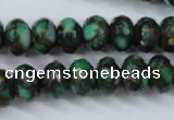 CGO125 15.5 inches 8*12mm faceted rondelle gold green color stone beads