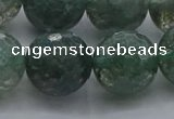 CGQ527 15.5 inches 18mm faceted round imitation green phantom quartz beads