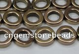 CHE1016 15.5 inches 12mm donut plated hematite beads wholesale