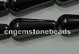 CHE149 15.5 inches 8*20mm teardrop hematite beads wholesale