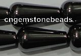 CHE150 15.5 inches 10*20mm teardrop hematite beads wholesale