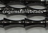 CHE205 15.5 inches 8*16mm bamboo hematite beads wholesale