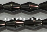 CHE214 15.5 inches 8*12mm bicone hematite beads wholesale