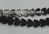 CHE268 15.5 inches 8*8mm heart hematite beads wholesale