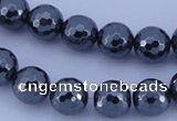 CHE35 16 inches 10mm faceted round hematite beads Wholesale