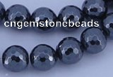 CHE36 16 inches 12mm faceted round hematite beads Wholesale