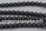 CHE401 15.5 inches 3mm round matte hematite beads wholesale
