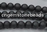 CHE403 15.5 inches 6mm round matte hematite beads wholesale