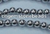CHE426 15.5 inches 10mm round plated hematite beads wholesale