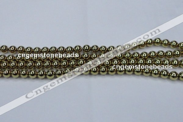 CHE435 15.5 inches 10mm round plated hematite beads wholesale