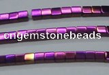 CHE454 15.5 inches 2*2mm cube plated hematite beads wholesale