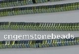 CHE560 15.5 inches 1*2*2mm square plated hematite beads wholesale