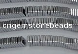 CHE565 15.5 inches 1*2*2mm square plated hematite beads wholesale