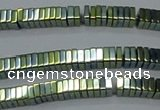 CHE572 15.5 inches 1*3*3mm square plated hematite beads wholesale