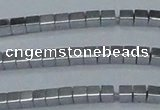 CHE590 15.5 inches 2*2mm cube plated hematite beads wholesale