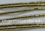 CHE596 15.5 inches 2*2.5mm tube plated hematite beads wholesale