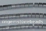 CHE598 15.5 inches 3*3mm cube plated hematite beads wholesale
