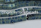 CHE622 15.5 inches 1*2*2mm square matte plated hematite beads