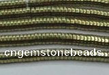 CHE662 15.5 inches 1*4mm tyre plated hematite beads wholesale