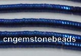 CHE664 15.5 inches 1*4mm tyre plated hematite beads wholesale