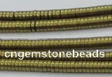 CHE681 15.5 inches 1*4mm tyre matte plated hematite beads