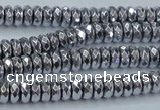 CHE734 15.5 inches 4*8mm faceted rondelle plated hematite beads