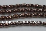 CHE741 15.5 inches 3*5mm rice plated hematite beads wholesale