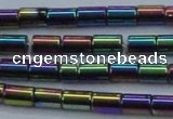 CHE770 15.5 inches 3*5mm tube plated hematite beads wholesale