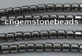 CHE775 15.5 inches 2*2mm drum plated hematite beads wholesale