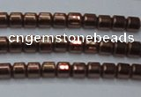 CHE777 15.5 inches 2*2mm drum plated hematite beads wholesale