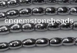 CHE793 15.5 inches 3*5mm rice plated hematite beads wholesale