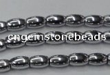 CHE801 15.5 inches 4*6mm rice plated hematite beads wholesale