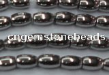 CHE810 15.5 inches 5*8mm rice plated hematite beads wholesale