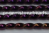 CHE813 15.5 inches 5*8mm rice plated hematite beads wholesale