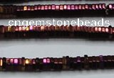 CHE829 15.5 inches 1*2mm hexagon plated hematite beads wholesale