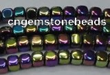 CHE871 15.5 inches 4*4mm dice platedhematite beads wholesale